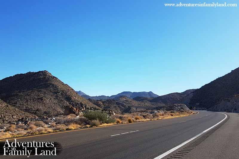 I8 mountain pass road to San Diego