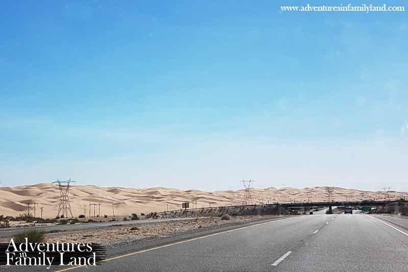 I8 sand dunes Phoenix to San Diego road trip